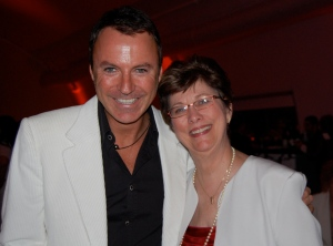 Joyce with Colin Cowie, Designer to the Stars